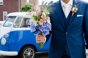 vw bus  wedding